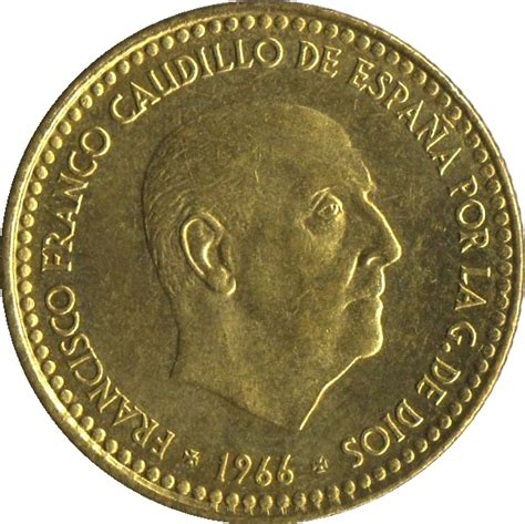franco caudillo de espana 1 peseta francisco franco 2nd portrait spain numista