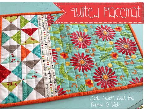 sewing pattern for quilted placemats sewing tutorials