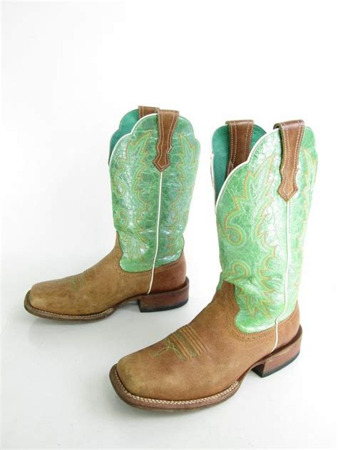 green cowboy boots s ariat lime green opalescence leather cowboy