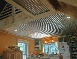 corrugated cottage ceiling