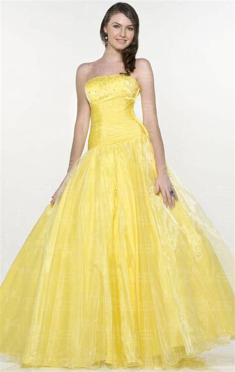 a line princess prom dresses organza princess a line strapless sleeveless long prom