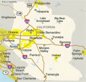 map of inland empire california ie