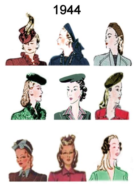 vigina hair history styles 17 best images about fashion 1940 1944 on pinterest