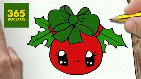 imágenes de navidad kawaii como dibujar un bola para navidad paso a paso dibujos