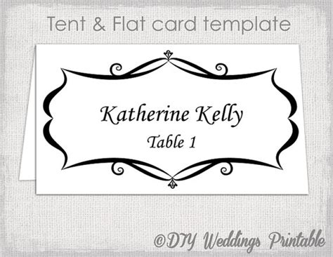 Dinner Place Card Template Word by Place Card Template Tent And Flat Name Card Templates