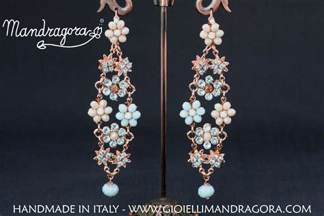 swarovski fiori orecchini fiore swarovski orecchini da donna orecchini
