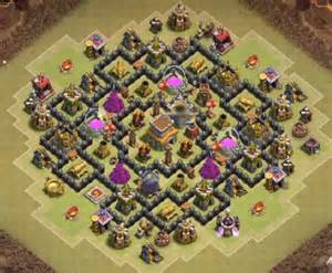 Anti dragon town hall 8 war base with bomb tower best town hall 8 war