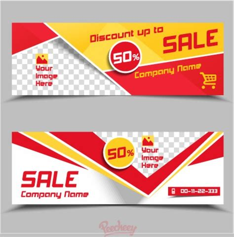 sale banner template free vector in adobe illustrator ai