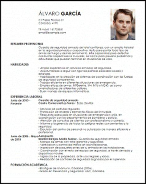 Plantilla Curriculum Vitae Vigilante De Seguridad Modelo Curriculum Vitae Guardia De Seguridad Armado Livecareer
