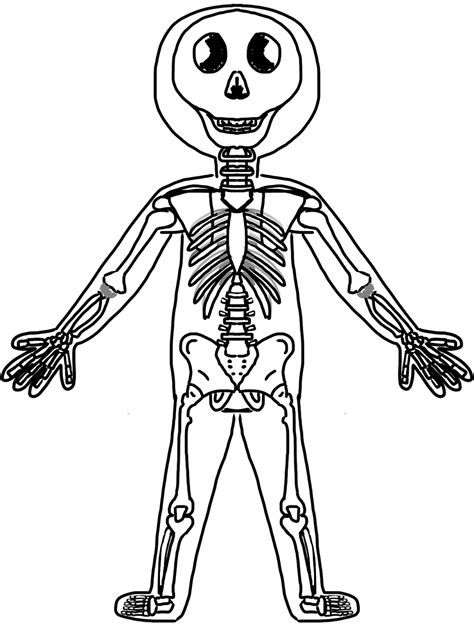 fun coloring pages clipart skeleton picture for kids cliparts co