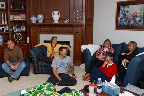 family in living room joe