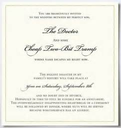 The invite funny wedding invitation a bride with any ounce of dignity