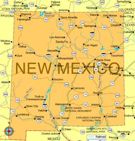 maps of new mexico new mexico map regional political map of mexico regional