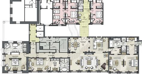 One Bedroom Floor Plan by Luxury Presidential Penthouse Suite The Langham London