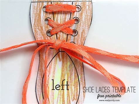 shoe lacing card templates shoe laces template real purdy real purdy projects