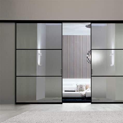 porte interne in alluminio e vetro porta plana parete free 3 luxor vetro reflex