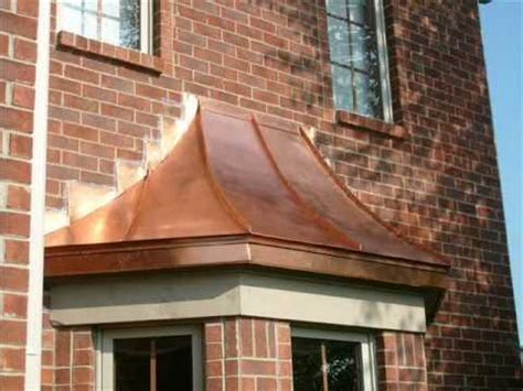 Bay Window Awning by Copper Bay Window Roofs Copper Roofing Copper Awnings