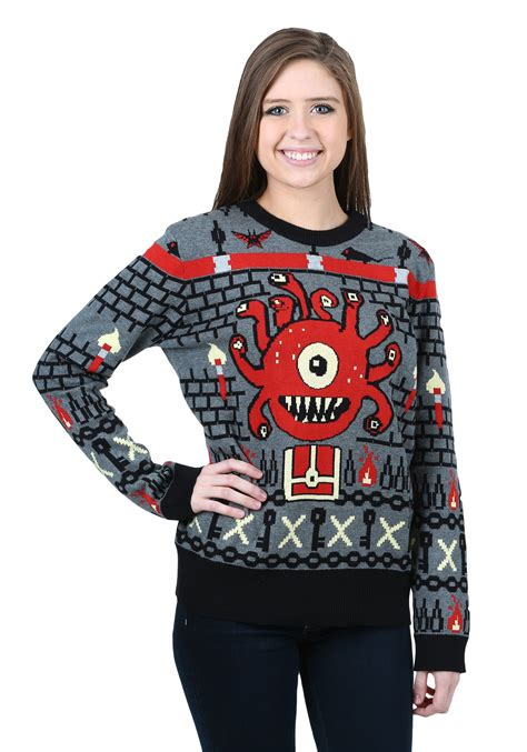Sweater Dungeons And Dragons Hitam dungeons and dragons beholder sweater