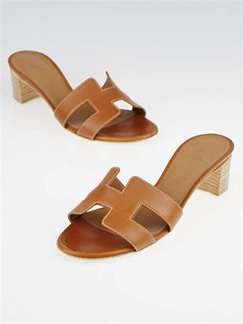 Sandal Flat Hermes1711 hermes gold calfskin leather oasis sandals size 4 5 35 yoogi s closet