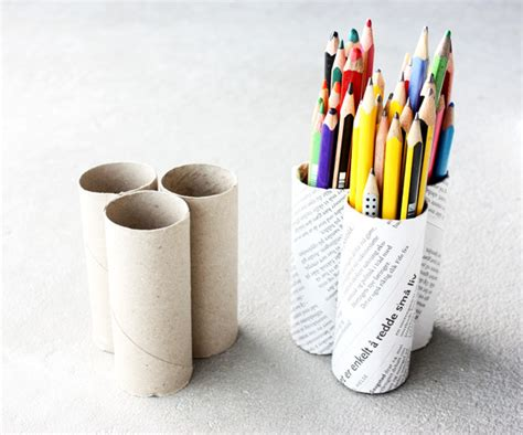 How To Make Sticks With Toilet Paper Rolls - diy pencil holder morning creativity