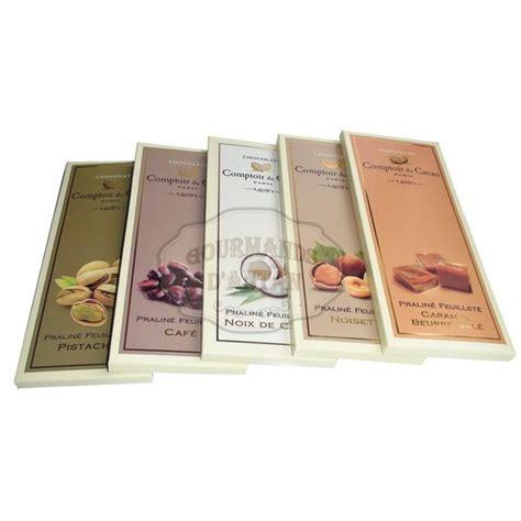 comptoir du cacao pack 5 tablettes chocolat pralin 233 feuillet 233 comptoir du