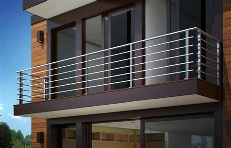 grill design  balcony  stainless steel railing