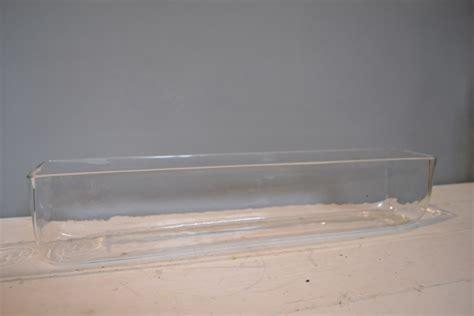 Trough Vase by Prop Hire Clear Vase Trough Glass 10cm