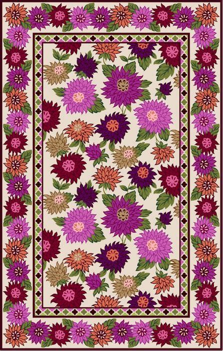 Vera Bradley Area Rugs Marcella Vera Bradley Signature Vby080a Hello Dahlia Closeout Area Rug Wish List