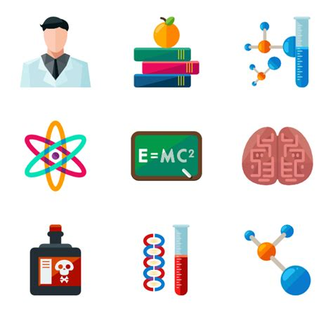 Chemistry Icons 2 261 Free Vector Icons Chemistry Coloring Page