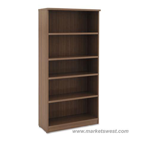 laminate bookshelves alera 5 shelf laminate bookcase