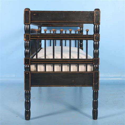 antique black bench antique swedish original black painted small gustavian