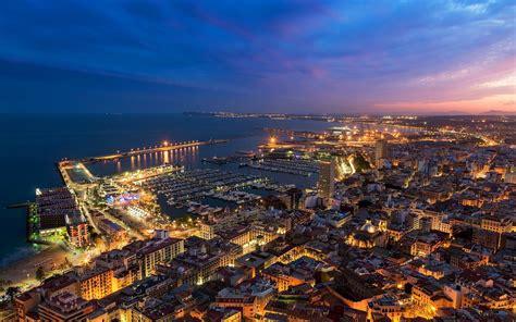 Cityscape Wallpaper by Alicante Spain Valencia Hdwallpaperfx