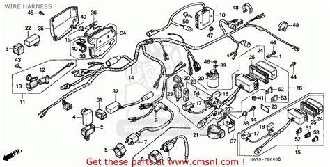 honda trx 70 fourtrax wiring diagram 1986 1986 honda