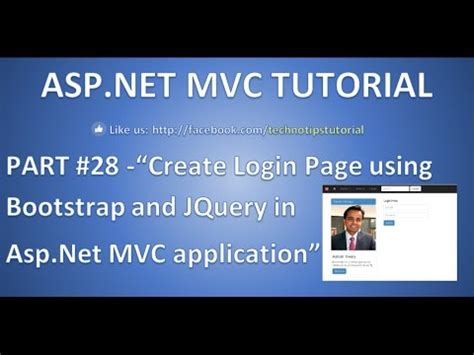 creating asp net login page part 28 create login page using bootstrap and jquery in