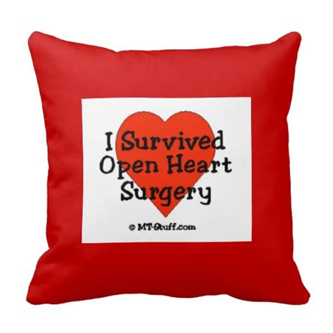 Open Surgery Pillow i survived open surgery pillow zazzle