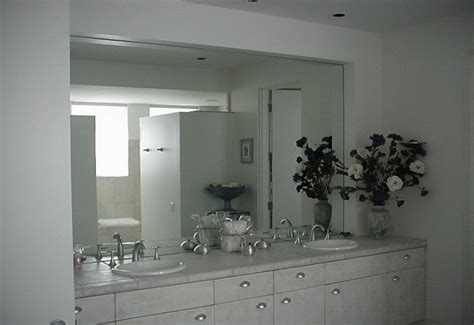 unframed bathroom mirrors large frameless mirrors for bathrooms home design
