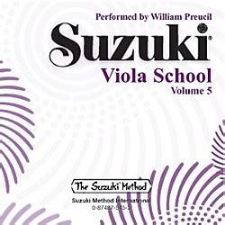 Suzuki Volume 5 Alfred Suzuki Viola School Volume 5 Cd Wwbw