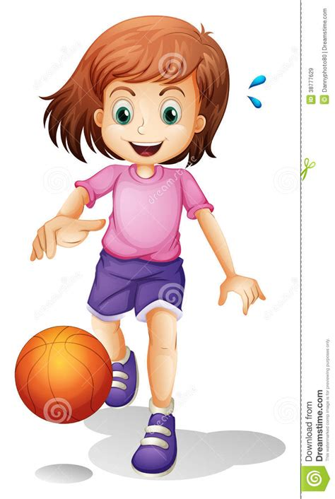 Little House Plans Free a little girl playing basketball stock vector image