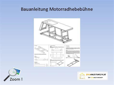 Motorradhebeb Hne Selbstbau by Motorrad Hebeb 252 Hne Selber Bauen Pdf Hebeb Hne F R Ein