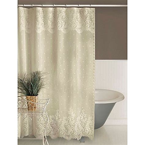 lace curtains bed bath and beyond heritage lace floret shower curtain bed bath beyond