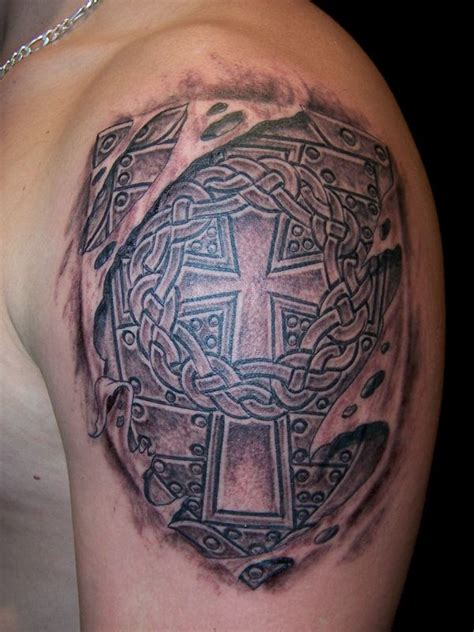 cross shield tattoo celtic cross tattoos this style cross is hugely