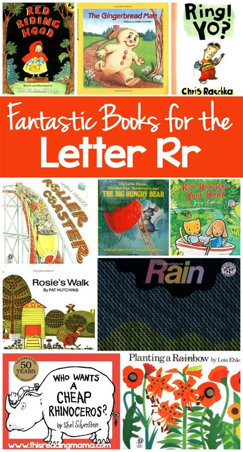 letters and lessons for the books fantastic books for letter r