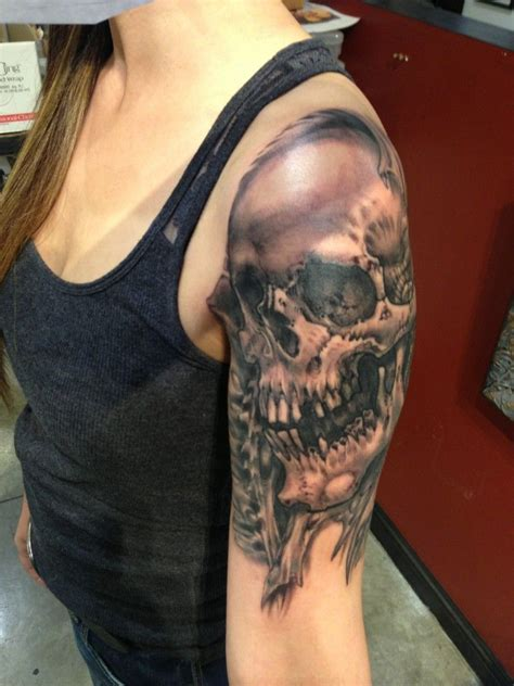 3d skull tattoos designs dead skull on arm cool tattoos dead