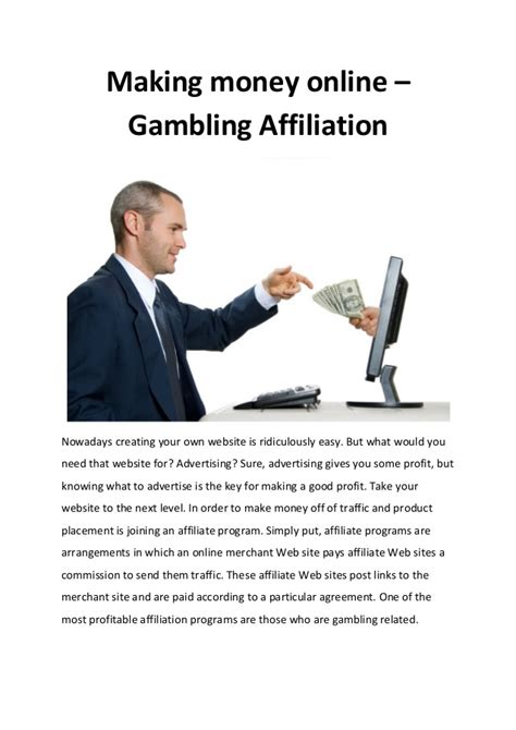 How To Make Money From Online Gambling - making money online gambling affiliation