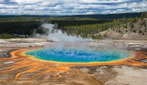 Winter In Yellowstone National Park My Yellowstone Park ... Grand Prismatic Spring Facts