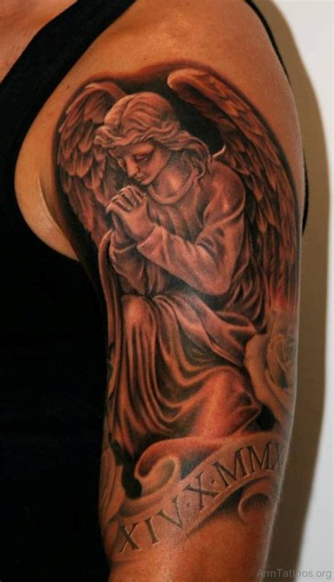 77 perfect guardian angel tattoos on arm
