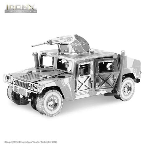 3d Metal Humvee metal earth humvee iconx 3d model icx008 32309013085