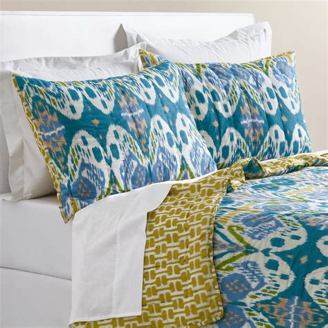ikat bedding blue ikat lexie bedding collection world market