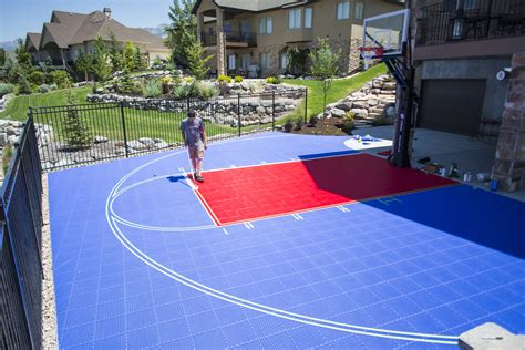 backyard sports courts backyard basketball court in draper utah