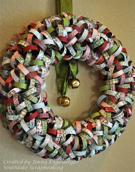 Paper Wreath Craft - southlake scrapbooking wreath